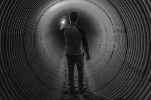 man light tunnel