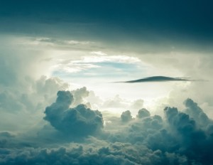 Sky through the clouds