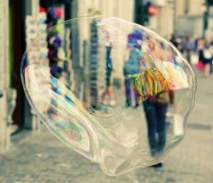 Bubble in the street