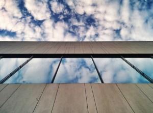 clouds mirror window