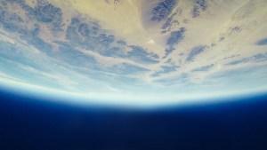 horizonte da terra do espaço