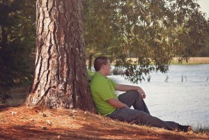 sit by a tree