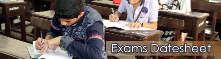 School Exams Datesheet