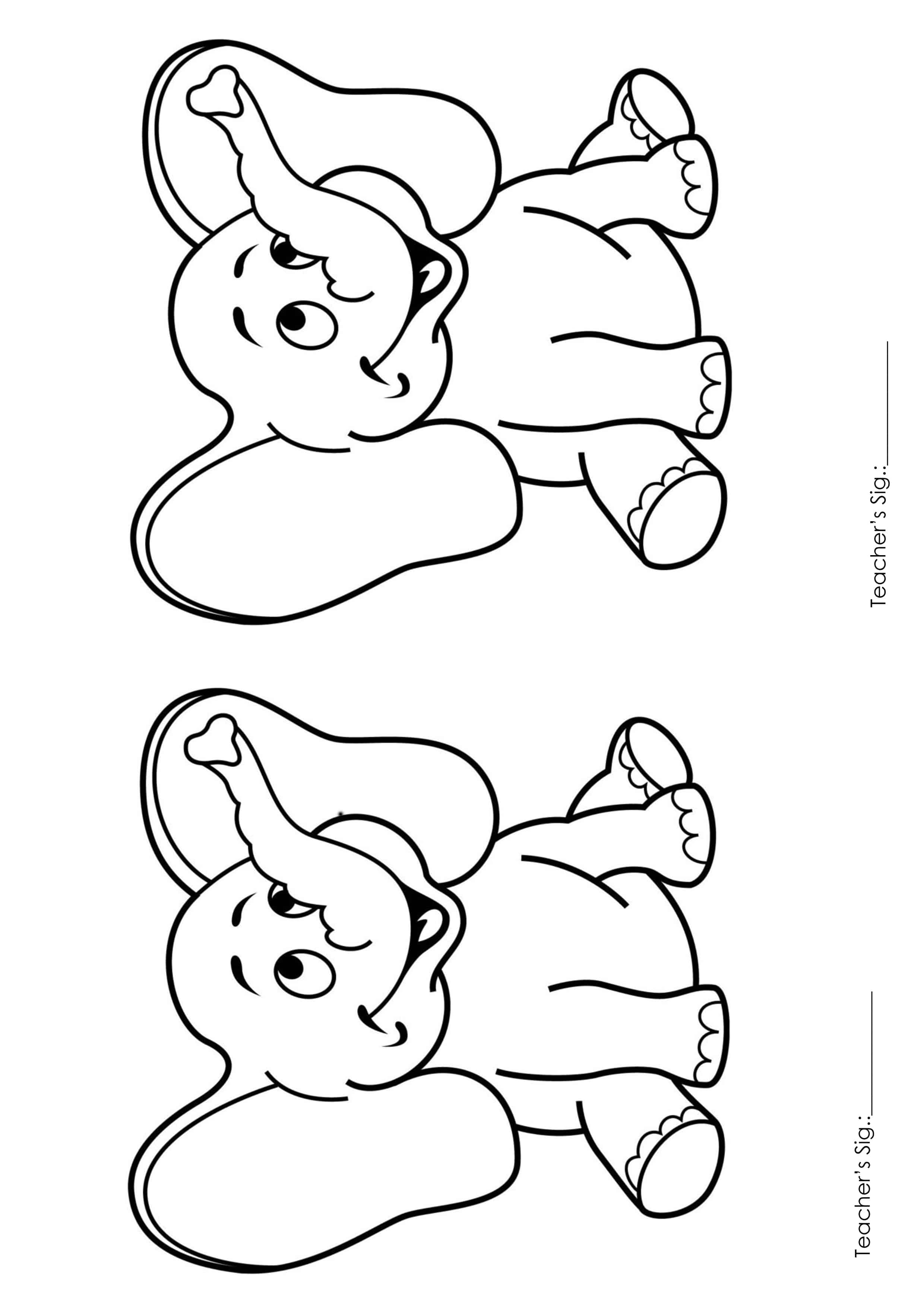 Printable Coloring Pages for Kids (Playgroup) A4 Size (1