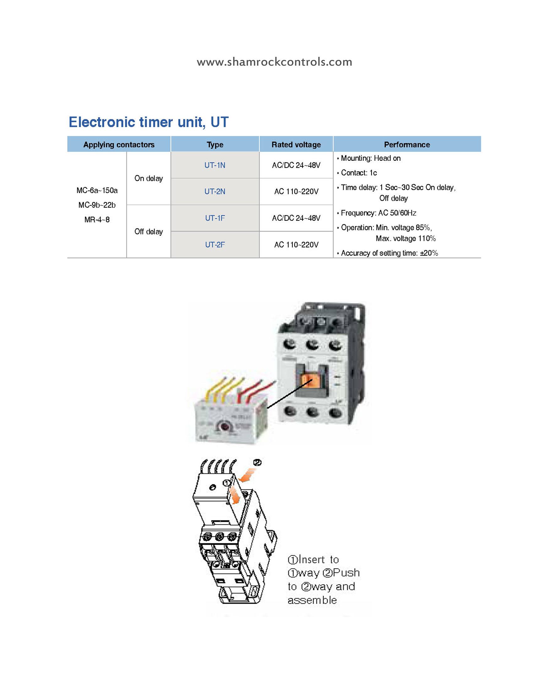 Ut 2f Metasol Contactor Electronic Timer Unit
