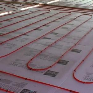 radiant floor installing