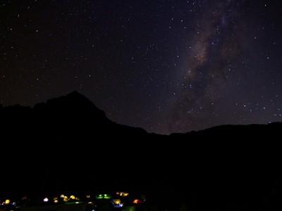 Milky way above Mawenzi / Kilimanjaro
