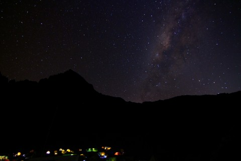 Milky way above Mawenzi / Kilimanjaro