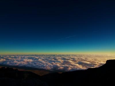Sunrise over Kenya from Kilimanjaro