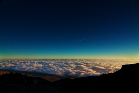 Sunrise over Kenya from Kilimanjaro