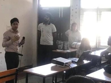 speaking at arya bhatta college