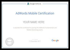 adwords mobile certification
