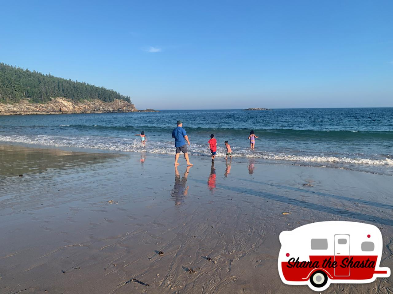 Family-at-Play-on-Sand-Beach-in-Acadia
