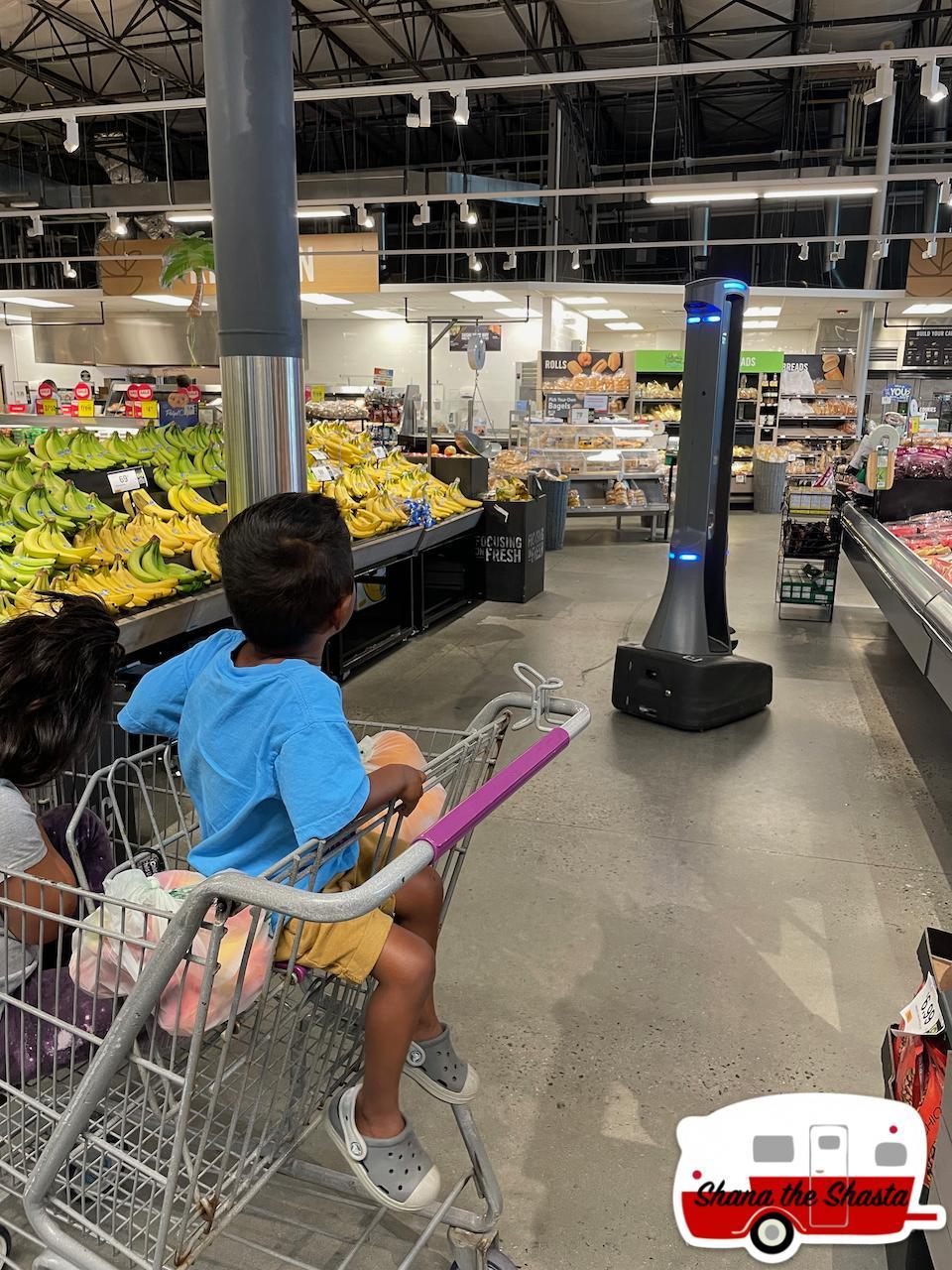Menacing-Covid-Robot-at-Grocery-Store