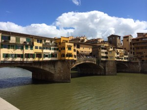 We walked to to the Boboli gardens via the Ponte Vecchio.