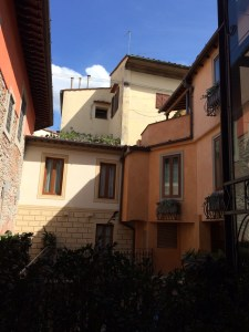 The view from our room in Florence. We have our own little courtyard.