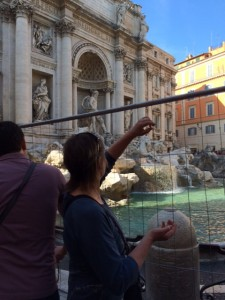 Stormy takes a turn at the Trevi.