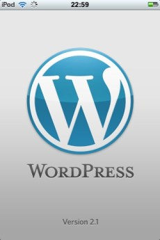 FrontPage of WordPress iPhone App