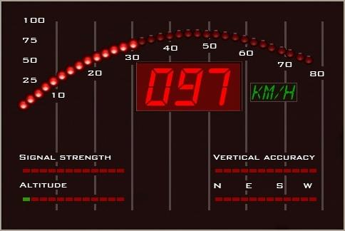 iKitt iPhone App Speedometer