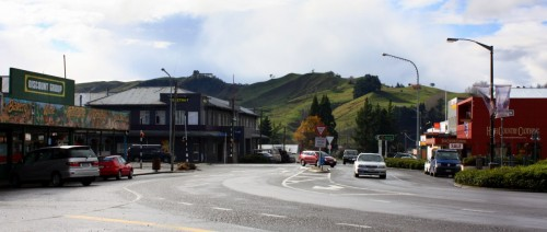 The town of Taihape, New Zealand