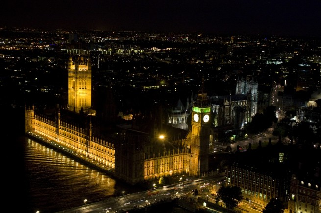 Westminster at Night from 300 feet