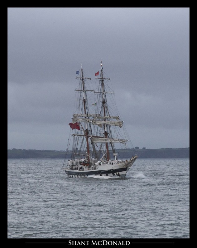Stavros S Niarchos Approaching at Hook Head Wexford