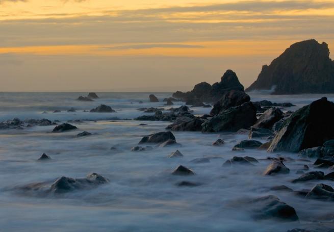 ND filters long exposure beach sunset