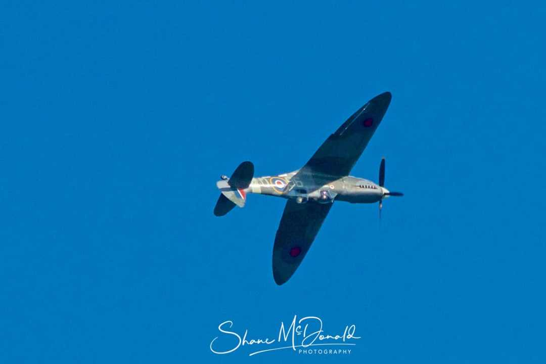 Spitfire at the White Cliffs of Dover - by Shane McDonald