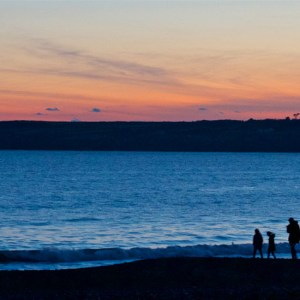 Tramore Family, Waterford, Sunset