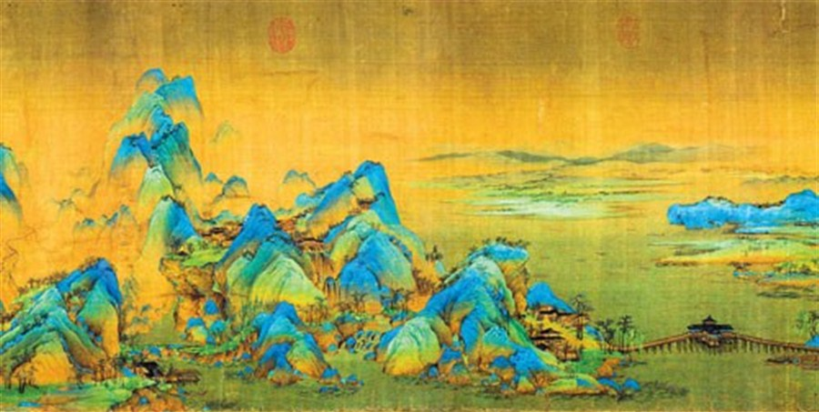 Image result for A Thousand Li of Rivers and Mountains: An amazing Wang Ximeng Painting