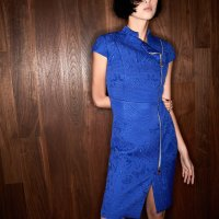 #QIPAO | #ShanghaiTang- Quilted Jacquard Qipao Dress- something great for everyday wear also winter everyday wears...