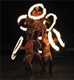 Fijian fire-dancers