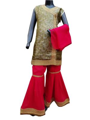 Party Wear Gharara Choli For kids