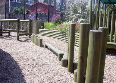 School Grounds - Children's play area in the school playground.
