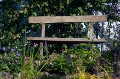oak bench, wildlife trust