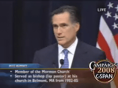 Mitt Romney Faith Speech