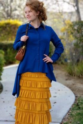 Mustard eleganza skirt