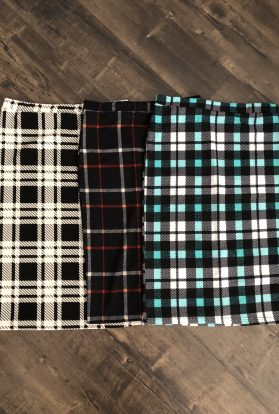 PLAID PENCIL SKIRTS