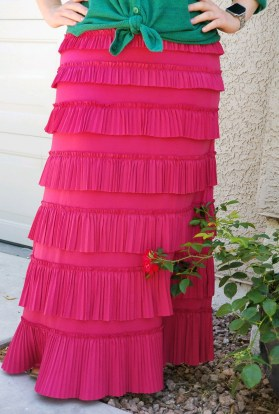 Pleated elegance skirt ~ Pink