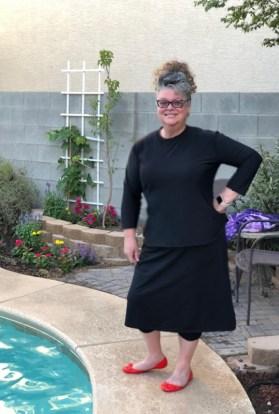 Ladies modest athletic skirt