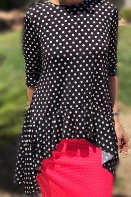 Zari Ruffle Tunic – Polka Dot
