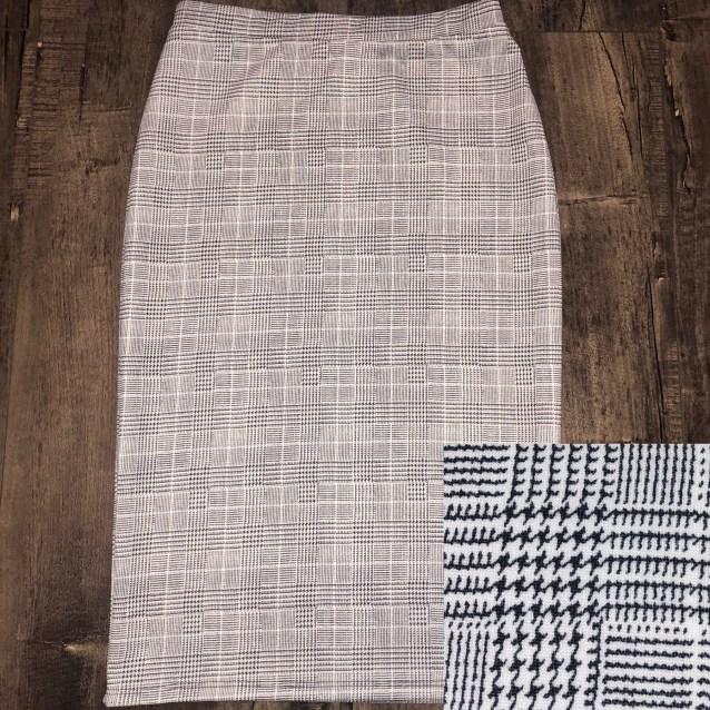 Mini Houndstooth pencil skirt