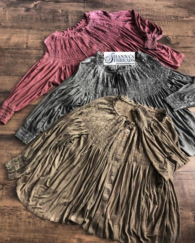 Ruched smocked top