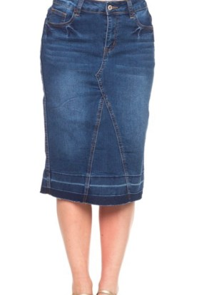 Blue denim skirt medium wash