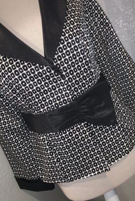 Black white bow jacket