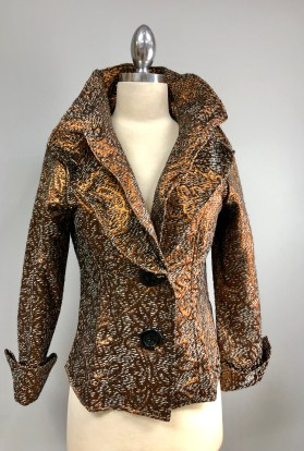 Bronze silver wired collar jacket