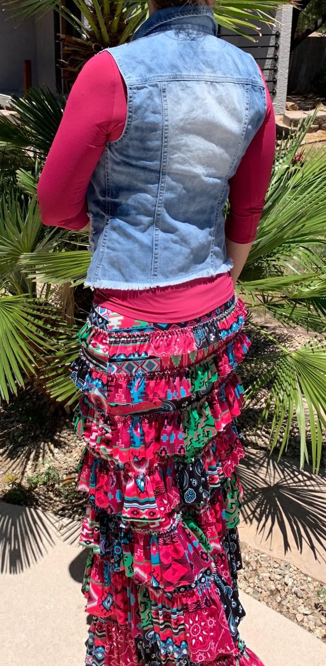 Rio grande ruffle eleganza skirt