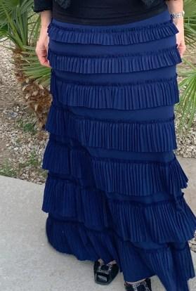 Navy eleganza ruffle skirt
