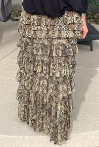 Taupe Snake Ruffle eleganza skirt