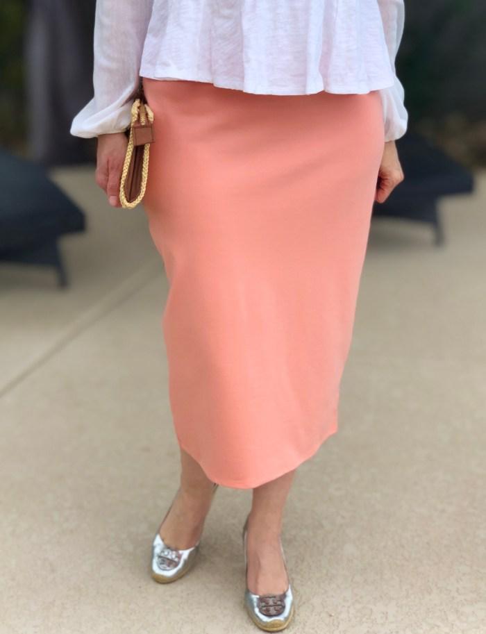 Mint pink babydoll tunic top